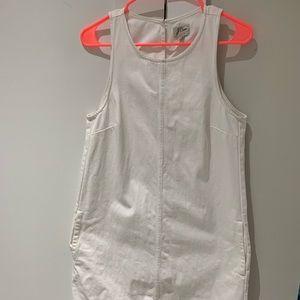 White JCrew denim dress
